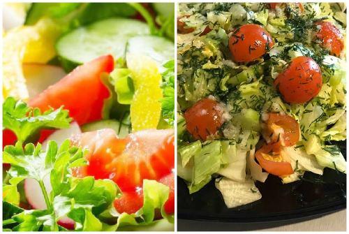 Рецепт с помидорами и огурцами