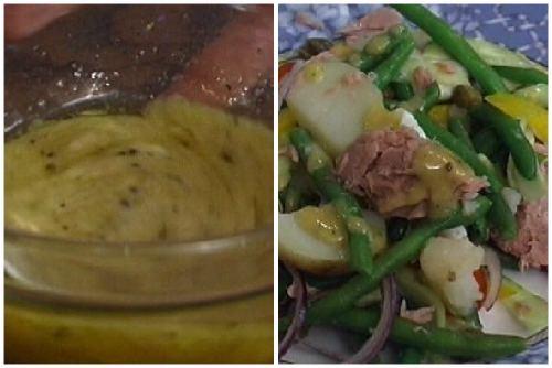 Заправка и готовый салат