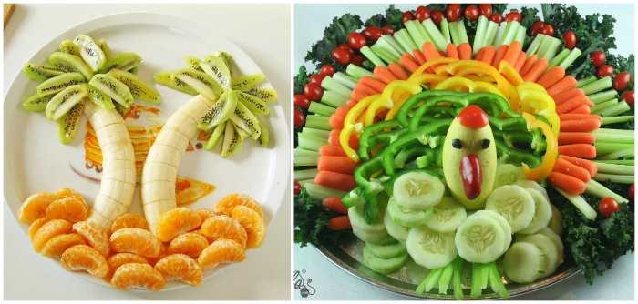 Фруктовые и овощные миксы для детского стола