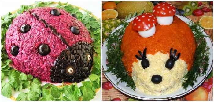 Овощные салаты для детей 10 лет