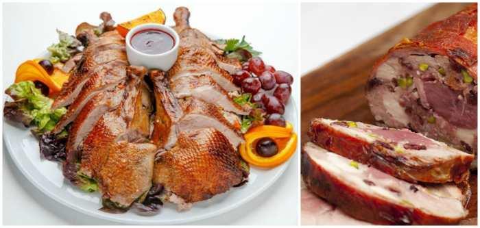 Утка по-пекински и мясной рулет