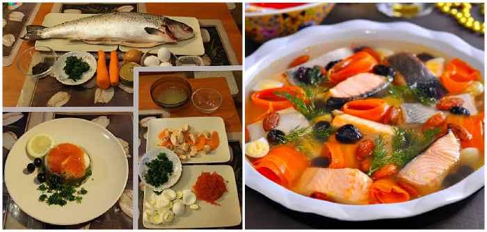 Приготовление заливного лосося