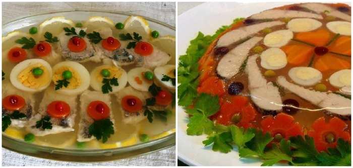 Варианты оформления блюда