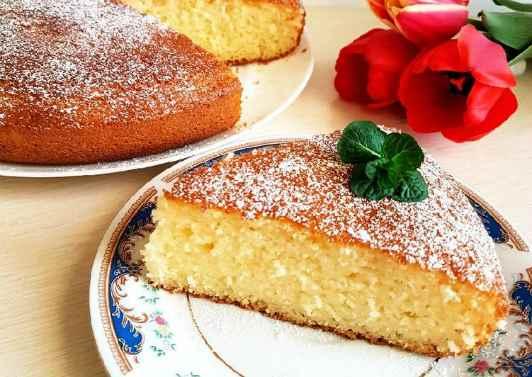 Пирог на манной крупе