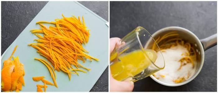 Цедра с апельсиновым соком