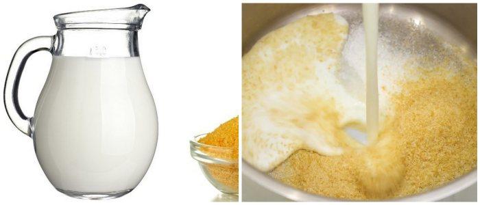 Желатин с молоком