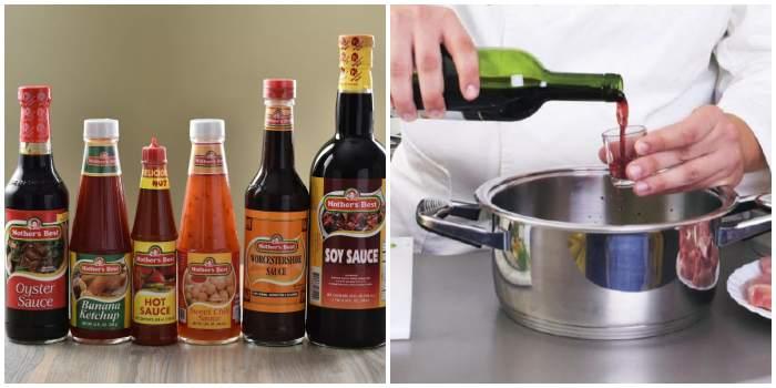 Соусы и вино для маринада
