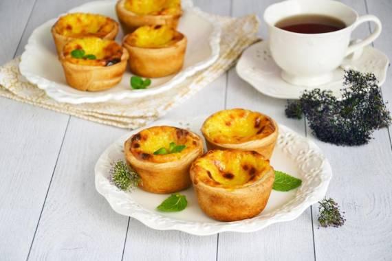 Португальский десерт Паштейш