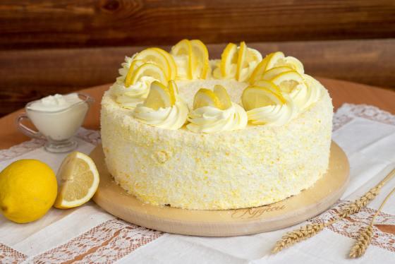 Торт с лимоном