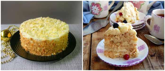 Торт Пломбир с выпечкой