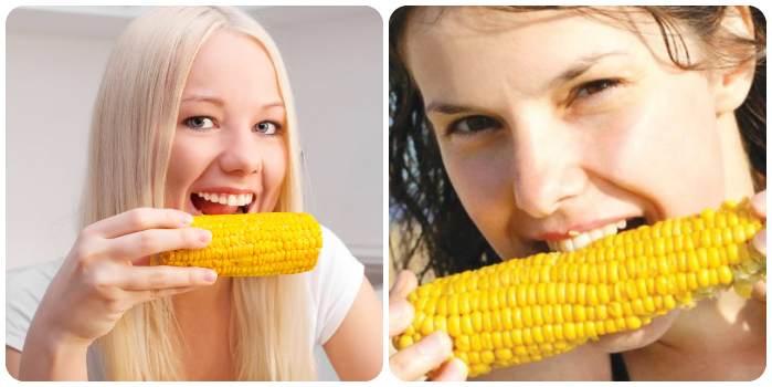 Девушки тоже любят кукурузу