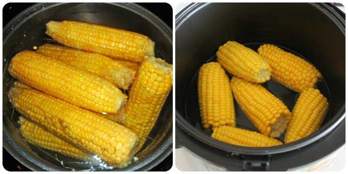 Кукуруза в чаше мультиварки