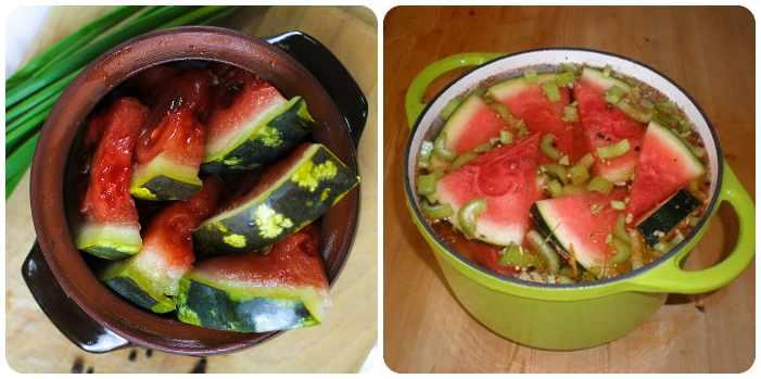 Кусочки арбуза со специями