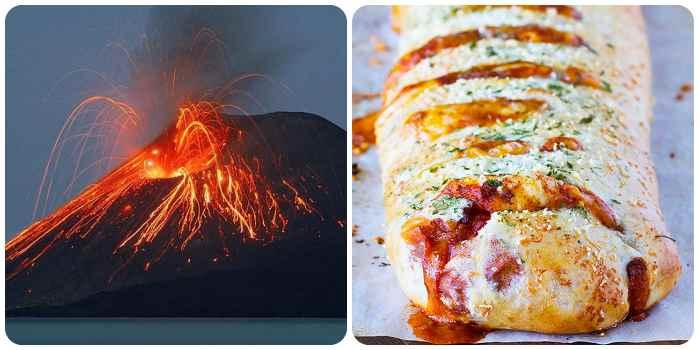 Пицца названа как вулкан
