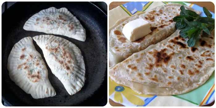 Приготовление на сухой раскаленной сковороде и подача со сливочным маслом