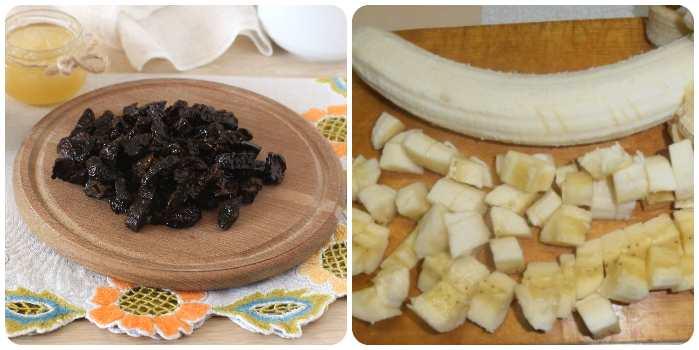 Режем банан и чернослив