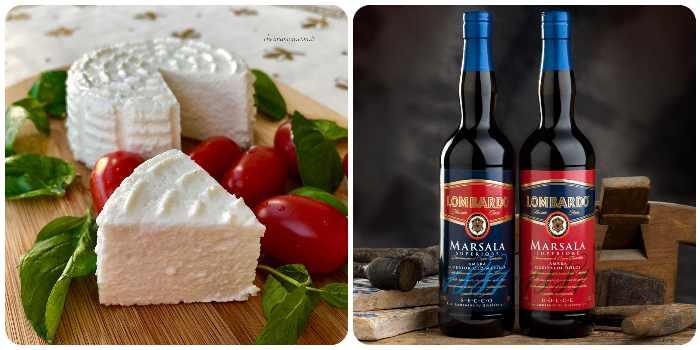 Сыр рикотта и вино Марсала - основные составляющие