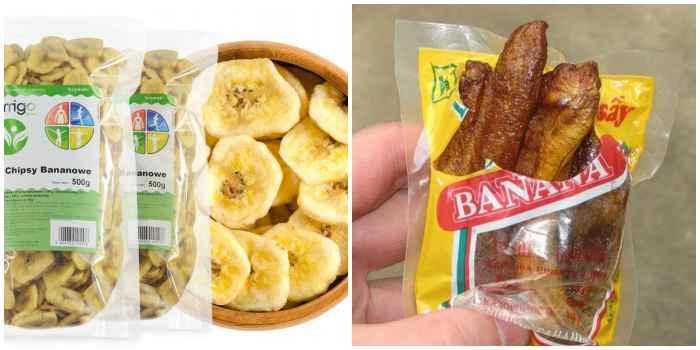 Сушеные бананы в упаковке