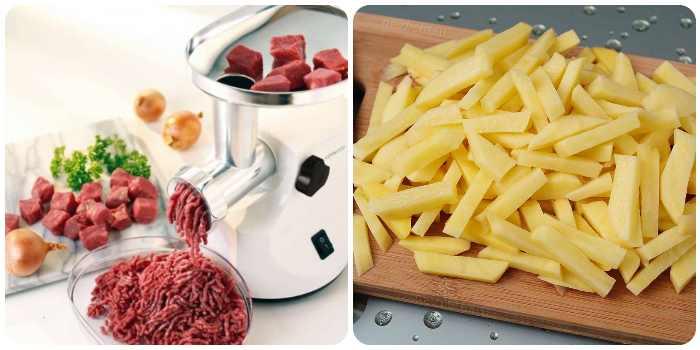 Фарш и картофель