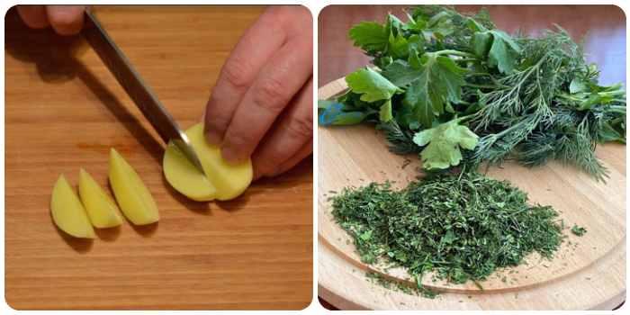 Картошечка и зелень