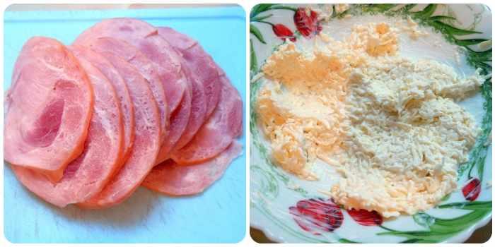 Ветчина и два вида сыра